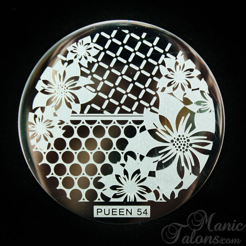 Pueen stamping plate 54 from the Buffet Series