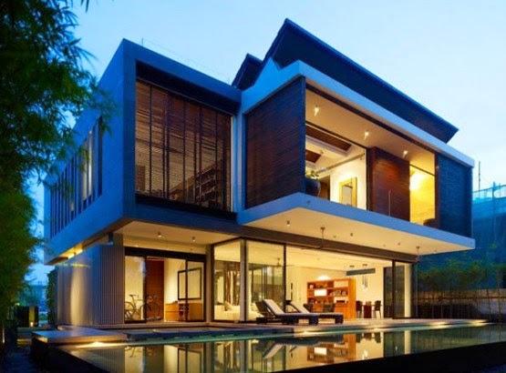 & Desain Rumah Minimalis Modern 2 Lantai Sangat Anggun