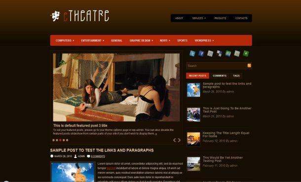 Brown WordPress Themes Arts Culture Theatre Brown Wordpress Theme