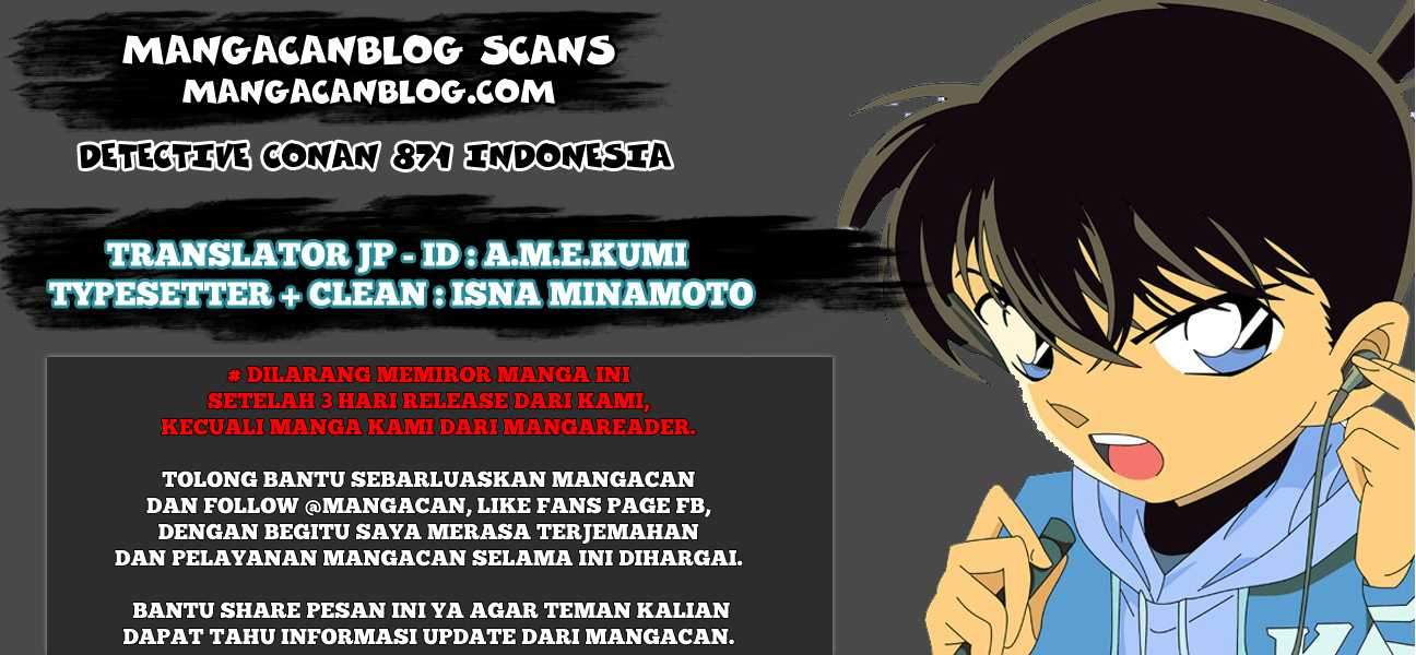 Dilarang COPAS - situs resmi www.mangacanblog.com - Komik detective conan 871 - lencana merah 872 Indonesia detective conan 871 - lencana merah Terbaru |Baca Manga Komik Indonesia|Mangacan