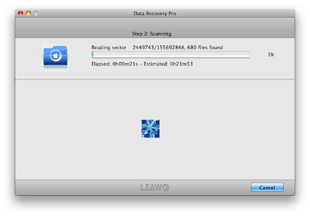 leawo data recovery mac scanning
