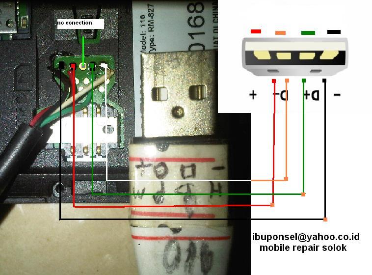 kabel flash nokia 110 d- d+ /usb flash nokia 110