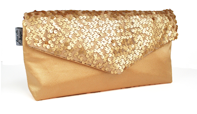 gold sequin clutch purse