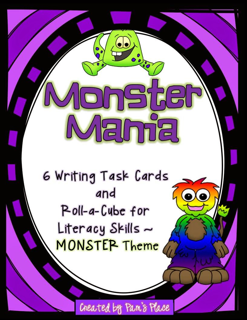 http://www.teacherspayteachers.com/Product/Monster-Mania-Writing-Task-Cards-Activites-for-LiteracyLanguage-Skills-1361663