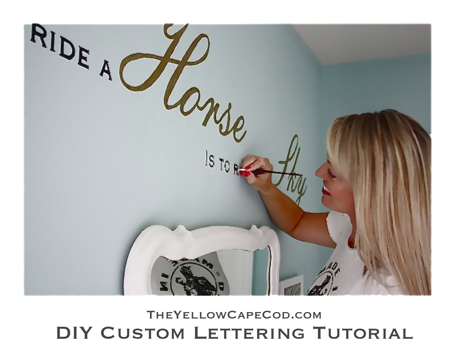 Custom Wall Lettering The Yellow Cape Cod Diy Custom Wall Lettering Tutorial