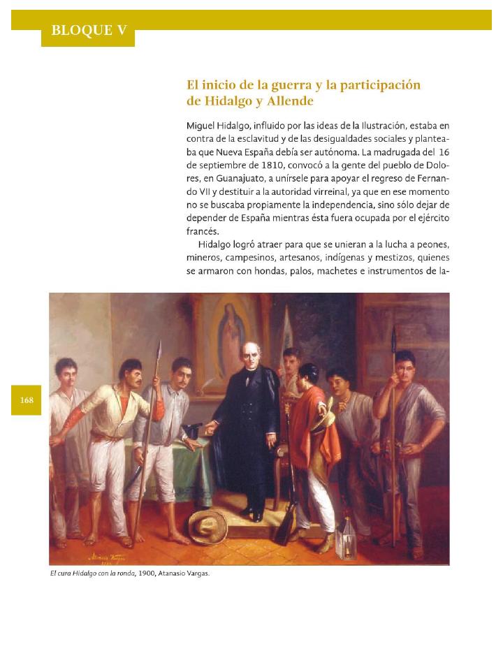 El inicio de la guerra y la participación de Hidalgo y Allende - Historia 4to Bloque 5 2014-2015