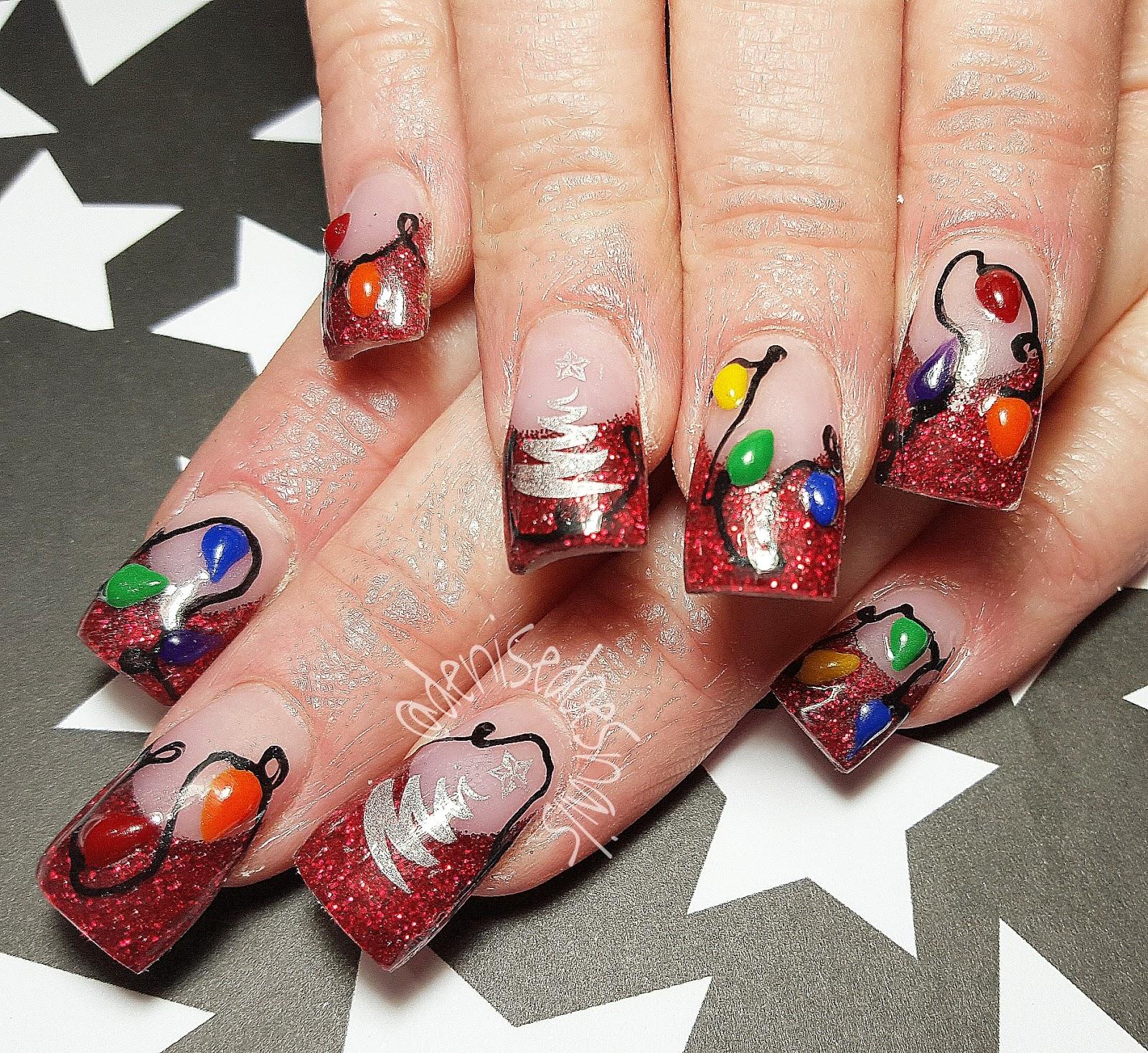 Christmas Light Nails: Nail Art By Denise Groves: Gettin' In The Christmas Spirit