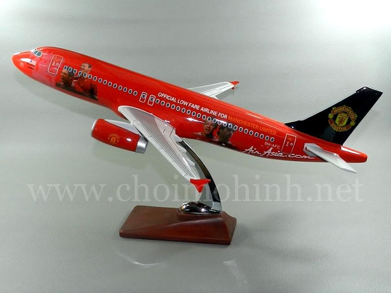 Mô hình máy bay dân dụng Manchester United AirAsia Airbus A320