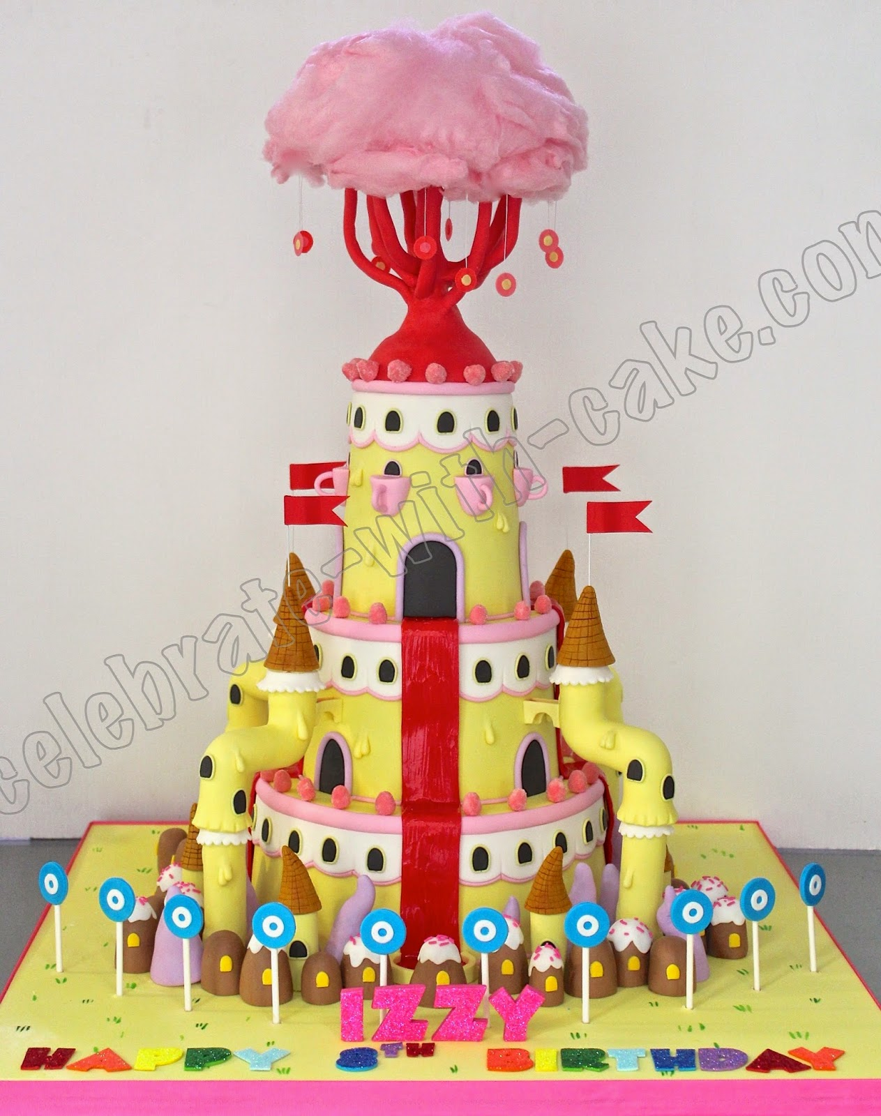 Adventure Time Bubble Gum Princess Castle 3 Tier Cake