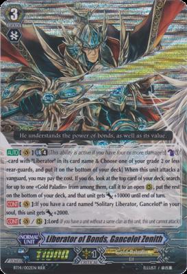Liberator of Bonds, Gancelot Zenith Cardfight Vanguard