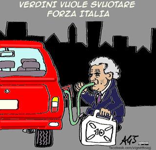 Forza Italia, Verdini, vignetta satira