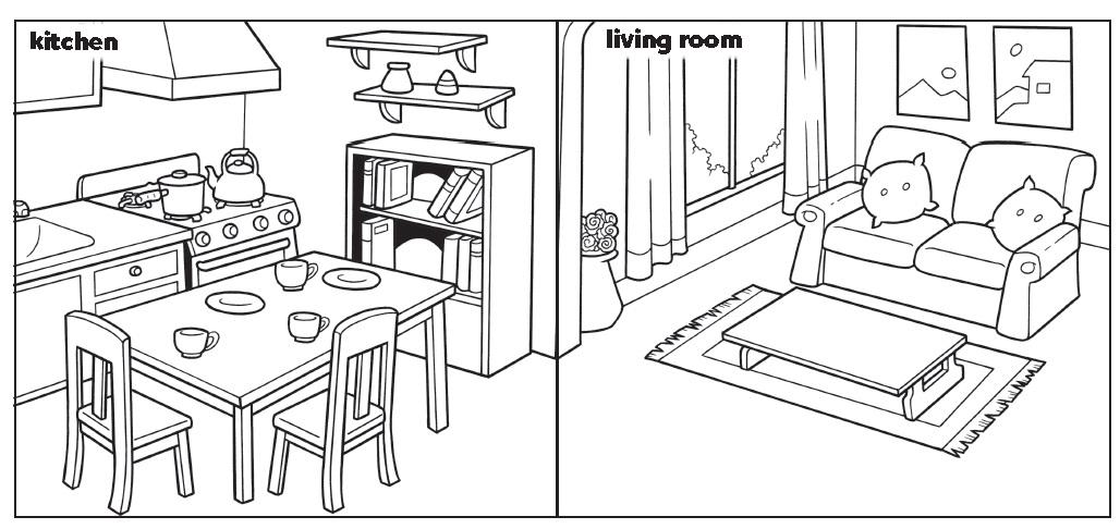 La clase de la letra b there is there are Kitchen design lesson plans