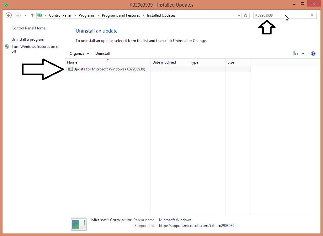 windows update installed updates