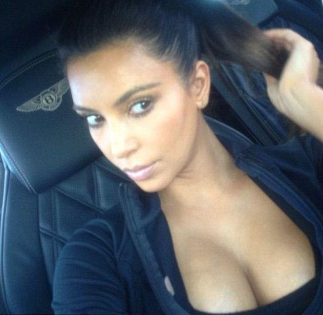 Payudara Kim Kardashian, Instagram