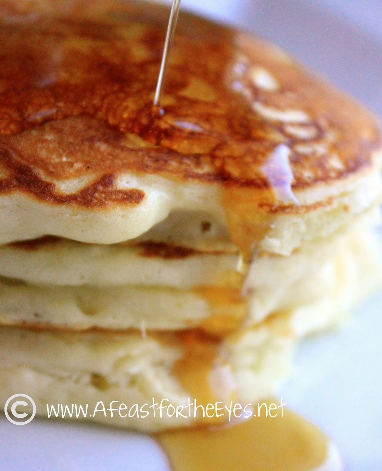 A feast for the eyes buttermilk pancakes for two of course pure maple syrup is the perfect finishing touch for homemade pancakes it costs a lot more than pancake syrup but there isnt any artificial ccuart Images