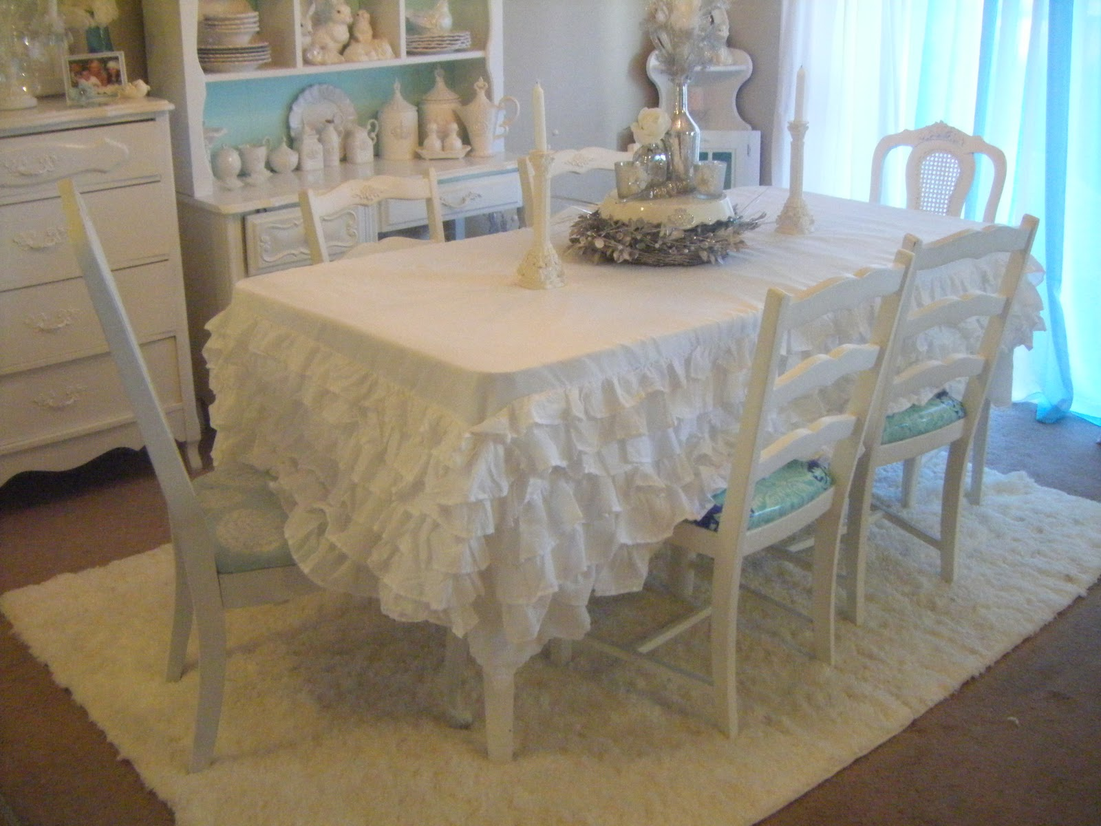 My Ruffled Table Cloth