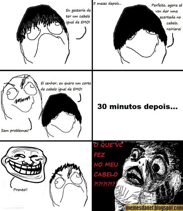 meme brasil  cabeleleiro troll