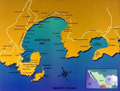 Acapulco Mapa político Región