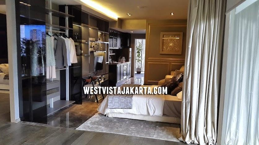 gambar foto show unit 1 br west vista jakarta apartment
