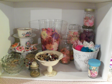 Complete View of Flower, Jewelry and Favorite Lace Stash