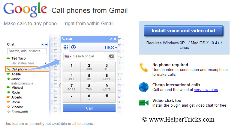 how to make a call using google voice app