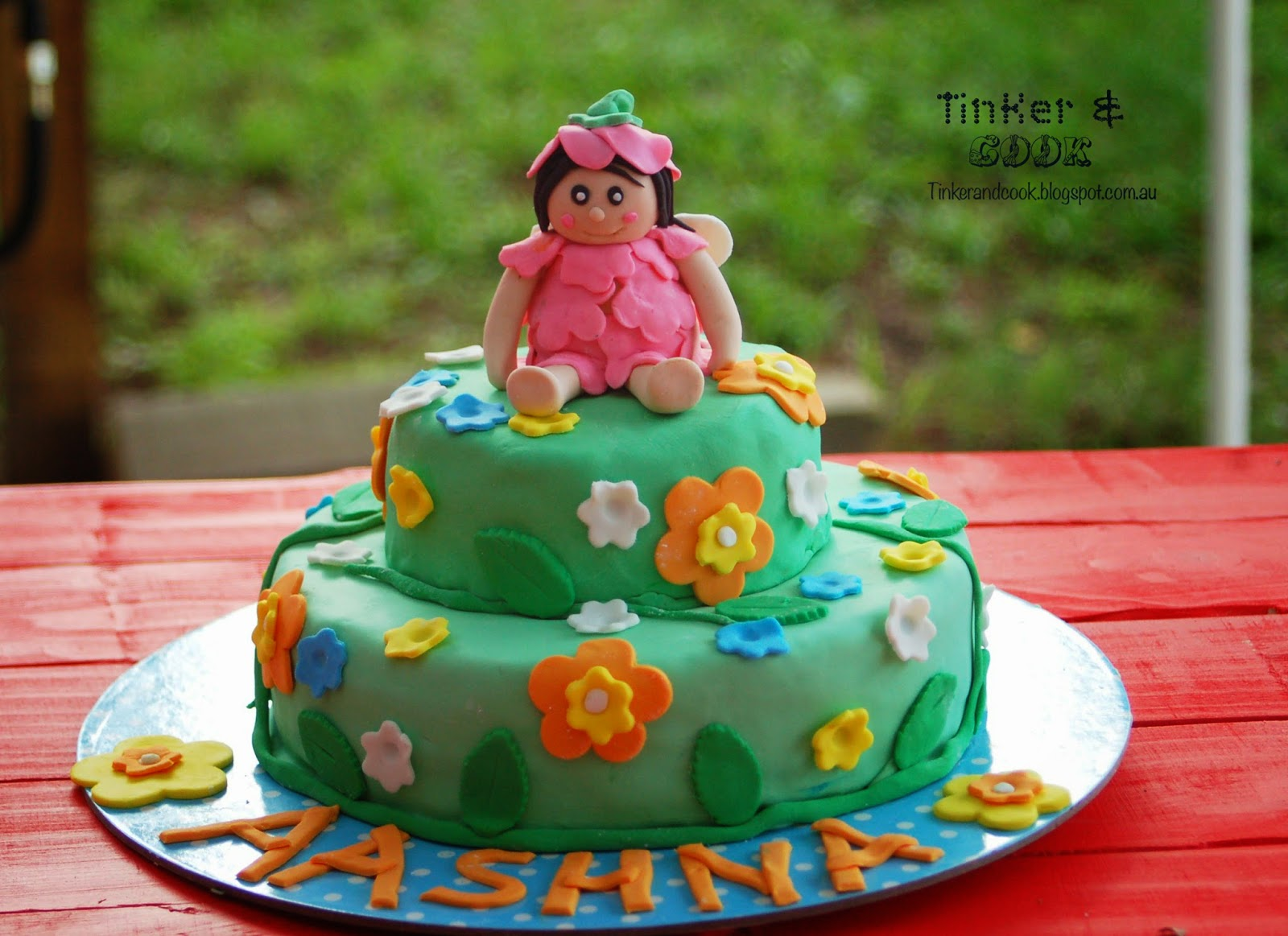 Tinker And Cook Flower Fairy Birthday Cake