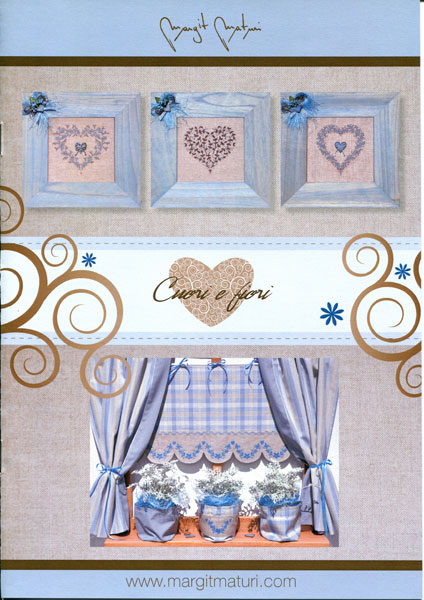 """Libretto punto croce """"cuori e fiori"""" Margit Maturi"""