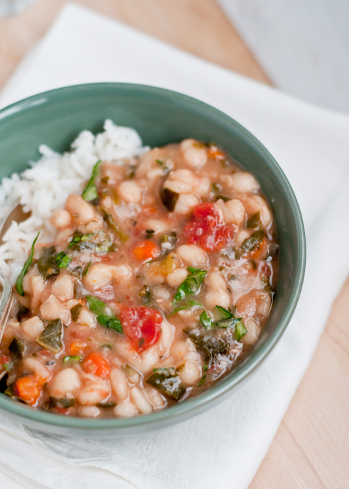 Slow Cooker Vegan White Bean Stew Cafe Johnsonia
