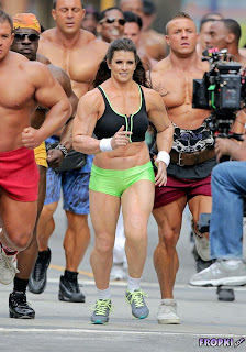Danica Patrick @ Danica Patrick Wears Muscle Suit in GoDaddy Commercial