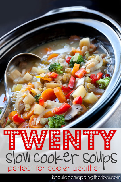 ishouldbemoppingthefloor: 20 Slow Cooker Soups, #wintermeals, #crockpot, #slowcooker, #soup