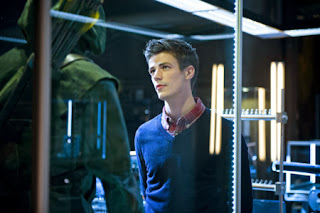 Arrow's Barry Allen Grant Gustin in Flash Costume