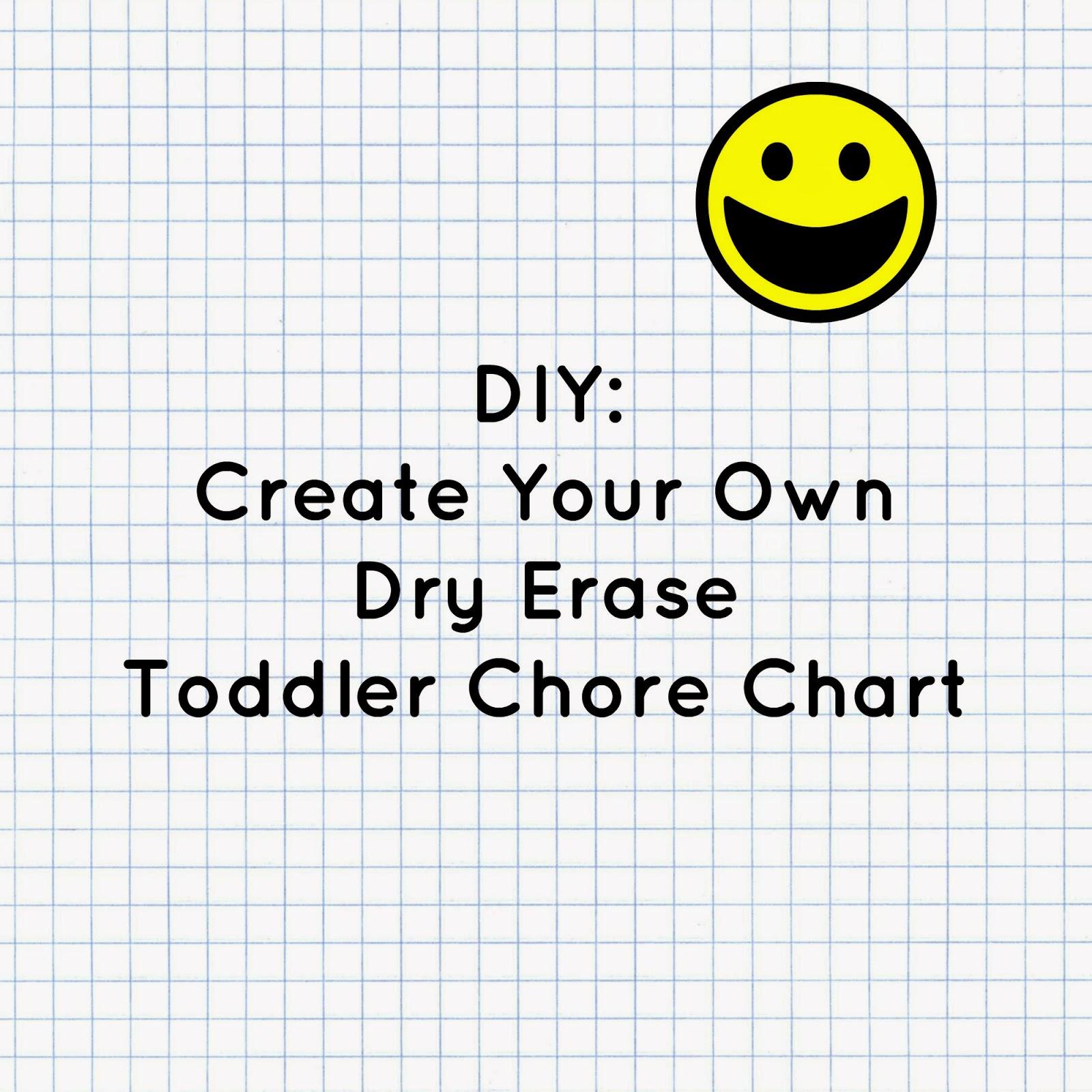 diy create dry erase chore chart or free printable