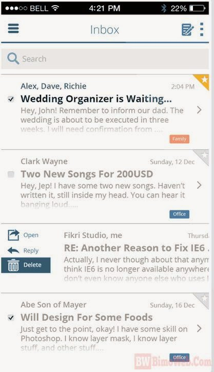 Creating Email App Interface for iOS 7 with Photoshop Tutorial
