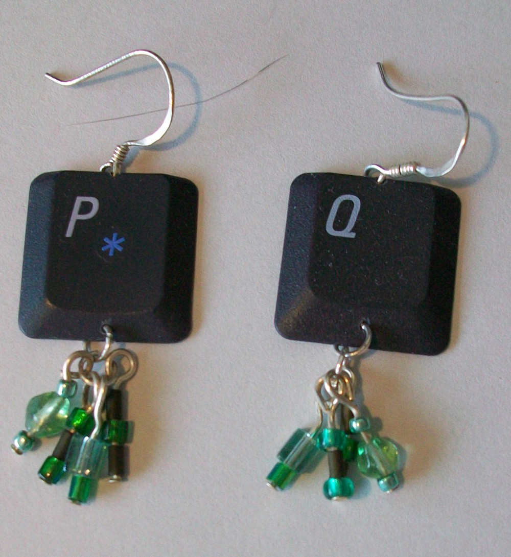 How To Recycle Eco Friendly Jewelry Earrings Copper Recycled Circuit Board Dangle