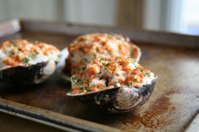 Thee Cook: Baked Stuffed Clams