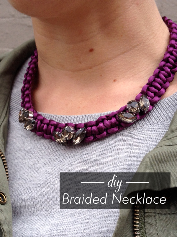 Thanks I Made It DIY JCrewinspired Braided Necklace - Diy braided necklace