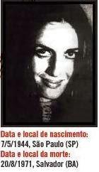 Iara Iavelberg companheira de Carlos Lamarca assassinada pela Ditadura