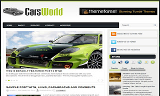 CarsWorld Blogger Template