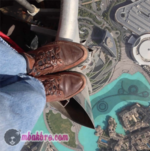 selfie di Burj Khalifa