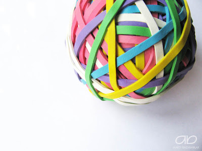 It's a rubber band ball, all