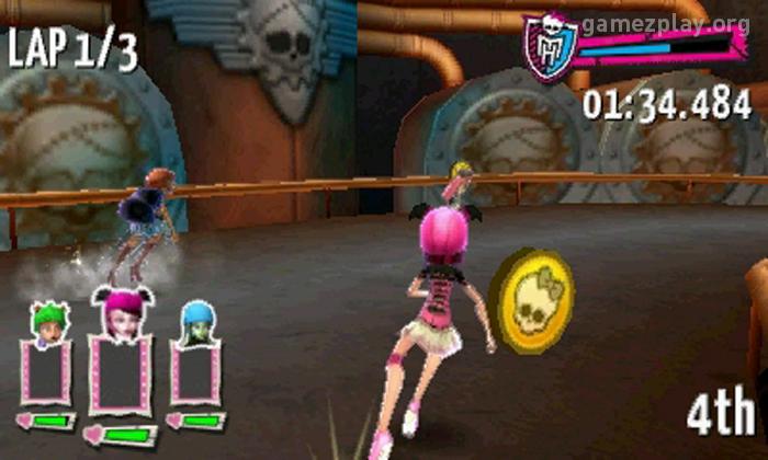 monster high roller skating game online