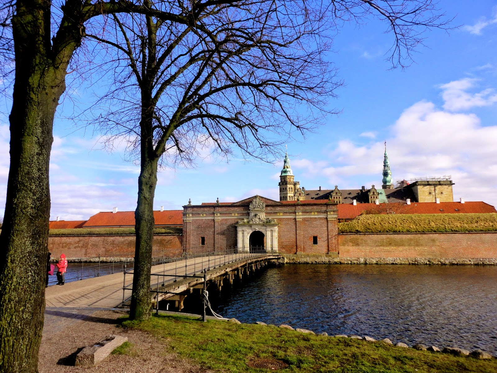Gate & moat at Kronborg Castle, Helsingor