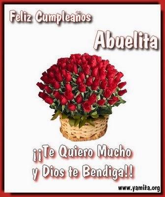 Frases De Cumpleaños: Feliz Cumpleaños Abuelita Te Quiero Mucho Y Dios Te Bendiga
