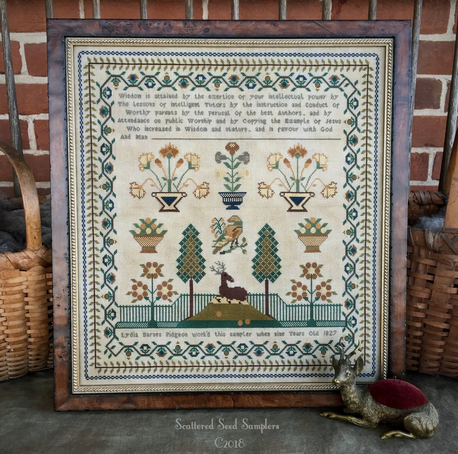 Antique Reproduction Sampler