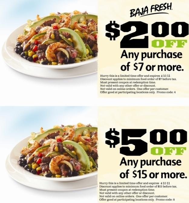 graphic regarding Baja Fresh Coupons Printable identify Baja New Discount codes! - NorCal Coupon Gal