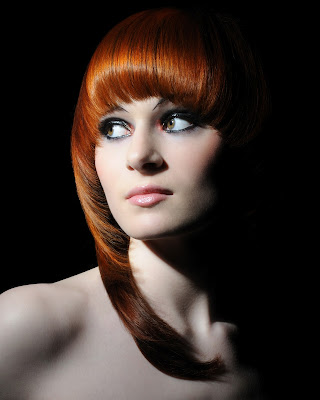 Red Hair, Colouring, Hairdressing, Professional Photographs