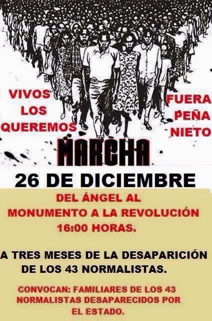 MARCHA EL VIERNES 26 DICIEMBRE EN MEXICO