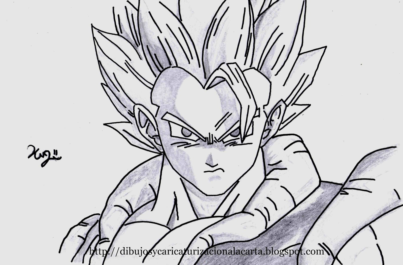 Goku en dibujos a lápiz - Imagui