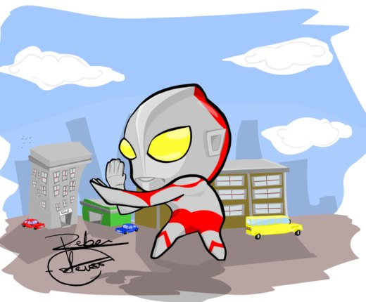 Ultraman FanArt por Reber-Estevao