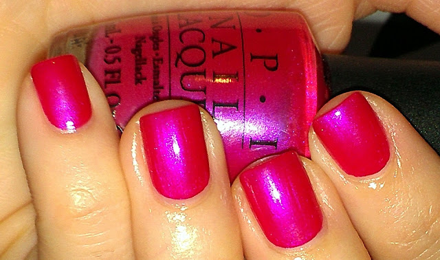 iridescent pink with blue flash